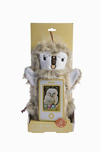 pawdpet Plüsch Schutz Pals Mr. Hoots (Eule) Kleine Magnet Halter & Träger für iPhone, iPod Touch, und Mobile Geräte bis 10,2cm Bildschirm Größe -