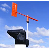 Hawk Marine Products Unisex's Little Race Wind Indicator-Orange, 17 cm, Black