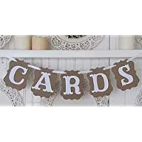 LINSUNG Cards Wedding Bunting Cardboard Wedding Decoration, Vintage