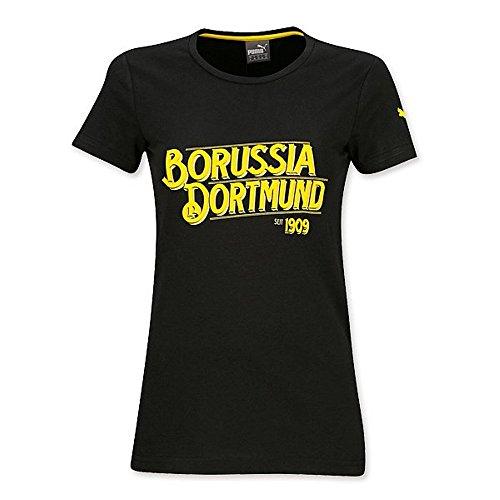 T-SHIRT FÜR FRAUEN (schwarz) Borussia Dortmund BVB 09 Tshirt camiseta Puma (S)