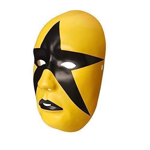 Wrestling WWE Offiziell Sternstaub Kostüm Halloween Kostüm Plastik Maske - mit Elastische Riemen