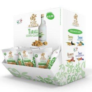 Taralli gusto classico fiore di puglia (con olio extra vergine di oliva) 35gr x 40 pz