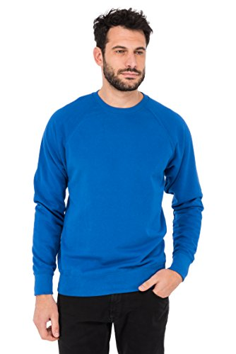Fruit of the Loom Raglan, Pullover Sportivo Uomo Blu (Royal)