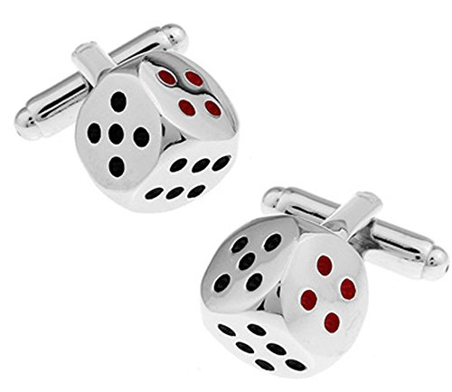 Ashton and Finch Würfel Manschettenknöpfe. Neuheit, Glücksspiel, Casino (Würfel-glücksspiel)