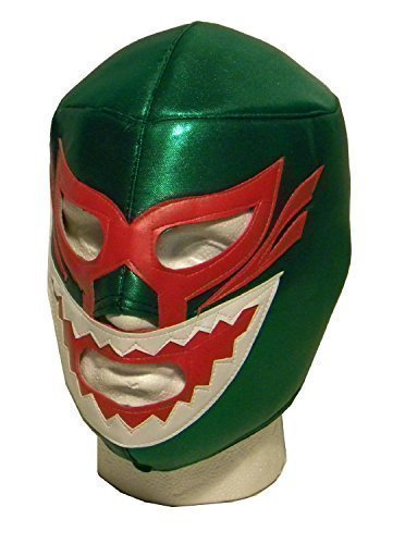 Shark grün Erwachsene wrestler lucha libre wrestling Maske (Libre Nacho Dress Fancy)
