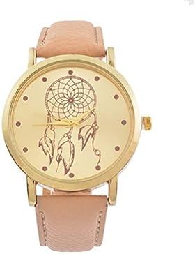 Souarts Damen Armbanduhr Traumfänger Muster Deko Quarz Uhr mit Batterie Charm Geschenk