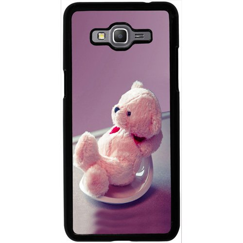 Casotec Cute Teddy Bear Design 2D Hard Back Case Cover for Samsung Galaxy Grand Prime G530 - Black  available at amazon for Rs.199