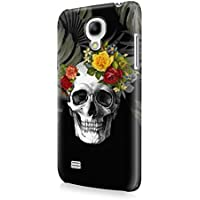 Rose Floral Death Skull Tropical Jungle Samsung Galaxy S4 MINI SnapOn Hard Plastic Phone Protective Case Cover