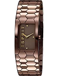 Esprit Damen-Armbanduhr Houston Hexa Analog Quarz Edelstahl ES107882004