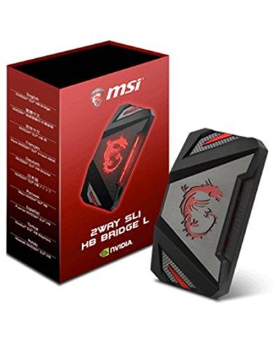 MSI 2WAY SLI HB Bridge L Internal SLI interface cards/adapter - interface cards/adapters (SLI, SLI, Black, Grey, 63 mm, 25 mm, 110 mm)