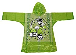 Tarun Traders Rainwear Unisex Rubber Raincoat (Green, 8-9 Years)