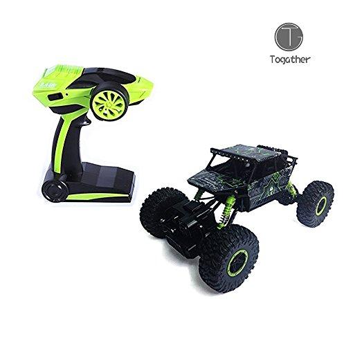 Togather 2.4G telecomando RC Camion Alte prestazioni Sumo Jumping Car Mini SUV Auto Giocattolo con rock Crawler - Verde