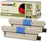 Pack 2 TONER EXPERTE® Compatibles 44469803 Noir Cartouches de Toner pour Oki C310dn C330dn C331dn C510dn C511dn C530dn C531dn MC351 MC361 MC361dn MC362dn MC561dn MC562dn MC562w