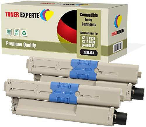 Pack 2 TONER EXPERTE® Compatibles 44469803 Negro
