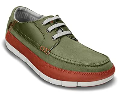 Crocs Stretch Sole Lace-up Men Shoe in Green