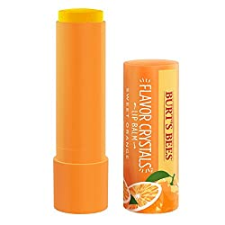Sweet Orange : Burts Bees Flavor Crystals 100% Natural Moisturizing Lip Balm, Sweet Orange, 1 Tube in Blister Box, 0.16 Ounce