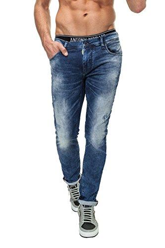 Antony Morato Jean Skinny homme Slim Fit Denim Bleu (7010)