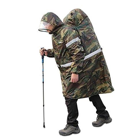 ungfu Cool Randonnée Camping Sac à dos imperméable pour chien Motif réfléchissant Poncho Camouflage
