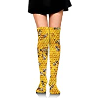 vbndfghjd Honey Bees On A Honey Combs Upgraded Knee High Graduated Compression Socks for Women and Men - Best Medical,Nursing,Travel & Flight Socks - Running & Fitness