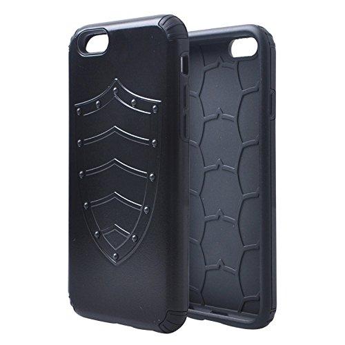 Wkae Case & Cover plusieurs séries de pc + bouclier silicone pour iphone 6 &6s ( Color : Black ) Noir