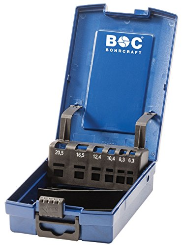 Bohrcraft 00811520006 Industrie-Kunststoffbox dunkelblau KS6-K leer 6-tlg.f. Kegelsenker 6,3/8,3/10,4/12,4/16,5/20,5