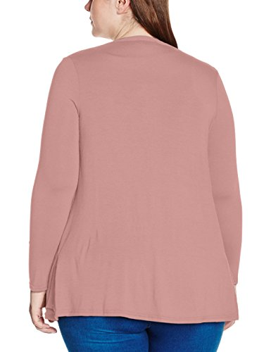 New Look Curves Boyfriend - Gilet Femme Pink (Mid Pink)
