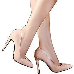 St. Roma Damen Candy Sweet Hohe Stiletto Lapsus PU Pumpen Schuhe, rosa - rose - Größe: 36 2/3 EU