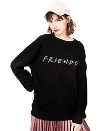 Sudadera Mejor Amiga Pullover Best Friend TV Logo para Mujer Suéter Sin Capucha Cuello Algodón Redondo