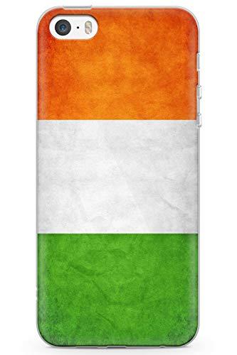 Die Irische Rugby-irland (Case Warehouse iPhone 5 / 5s / SE Irland-Flagge Schutz Gummi Handyhülle TPU Bumper Tricolor Geschenk Irisch Klee St Patrick)