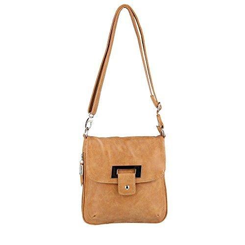 188a77360fc30 OBC Phoenix Messenger Schultertasche ital-design Tasche Damentasche  CrossOver Bag Umhängetasche Shopper Henkeltasche (Taupe