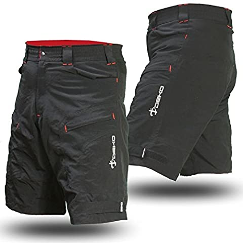 Deko MTB Mountain Bike Cycling Shorts for Off Road Cycling, Black (X Large)