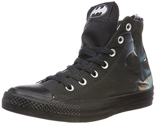 Converse Unisex-Erwachsene CTAS Hi White/Black Hohe Sneaker, Schwarz (Black/White/Black 001), 44.5 EU (Batman-c)