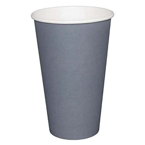Fiesta GP417 Takeaway Coffee Cups, Single Wall, 16 oz., Charcoal (Pack of 1000)