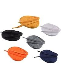 Shoeshine India assorted 6 FLAT Sports Shoe laces (FF31)
