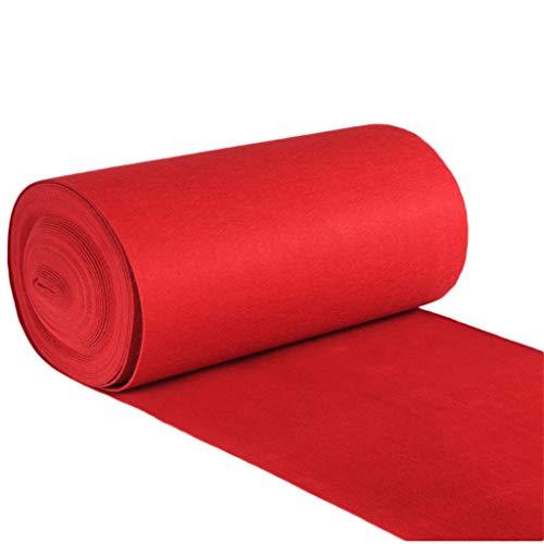 Roter Teppich-Wegwerfhochzeits-Verdickung 2MM jede mögliche Längen-Rollen-nichtgewebte Läufer-Teppich-Hotel- / Treppen- / Gang- / Stadiums-Wolldecke