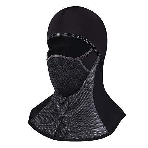 Litthing passamontagna maschera da sci traspirante di cotone balaclava antivento maschera invernale caldo per gli sport all'aria aperta sci pattinare moto bicicletta (d)