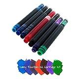 Lamy T10 Tintenpatronen für Füllfederhalter, verschiedene Farben, 7 Stück
