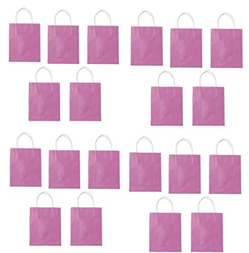 Folia Papiertüten Kraftpapier, 12 x 5,5 x 15 cm, 20 stück (rosa)