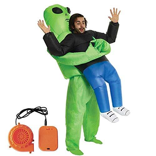 Aufblasbares Kostüm, Alien Cosplay-Kostüm, Lustige Show-Requisiten, Halloween Aufblasbares Kostüm für Fasching Erwachsene/Kinder