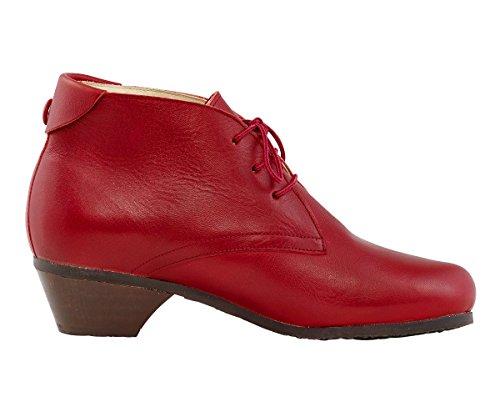 BIONAT Country, bottines femme cuir naturel Rouge