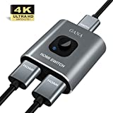 HDMI Switch 4k HDMI Splitter-GANA Aluminum Bidirectional HDMI Switcher, hdmi Switch Splitter 1