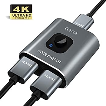 HDCP for Chromecast//Roku//Fire tv stick//Apple TV//Samsung TV//Blu Ray Player//Playstation//Wii U//Laptop 3D 1080p QGECEN High Speed HDMI Switcher Splitter 3 IN 1 Out Supports 4K 3 Port HDMI Switch