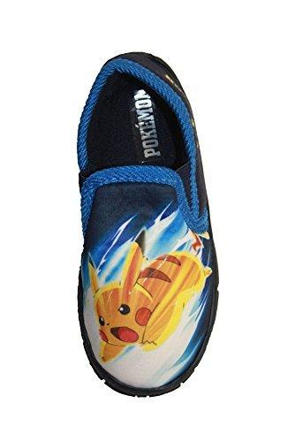 Jungen Mädchen Schuhe Minion Kinder Turnschuhe Star Wars Disney Spiderman Hausschuh - Marineblau - POKASTLEY, UK 10/EU 28 - Pre ()