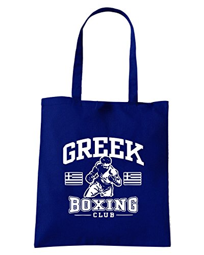 T-Shirtshock - Borsa Shopping TBOXE0051 greek boxing Blu Navy