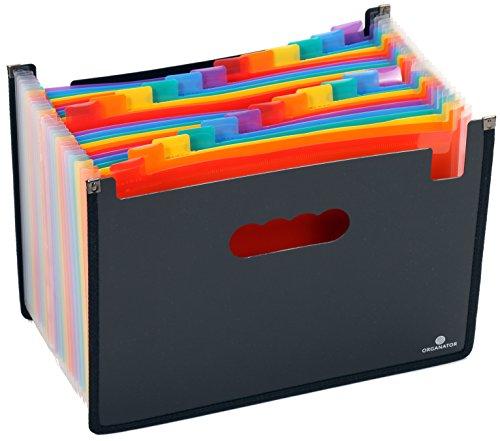Organator Dokumentenmappe DIN A4, Sortiermappe mit 24 Register als Fächermappe
