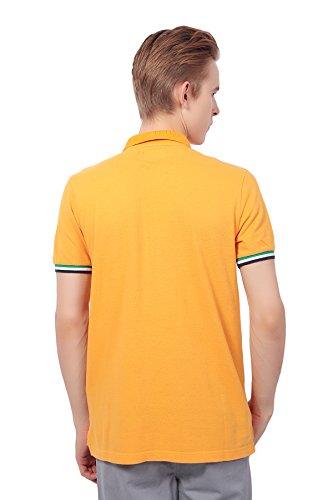 Pau1Hami1ton PH-21 Herren Freizeit Baumwolle slim Polo Hemds Herren Kurzarm Orange