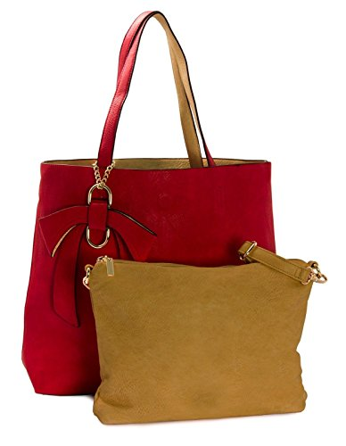 Mustard Borsa Big donna Shop Handbag Handbag tote Big One Red xztdtqYIw