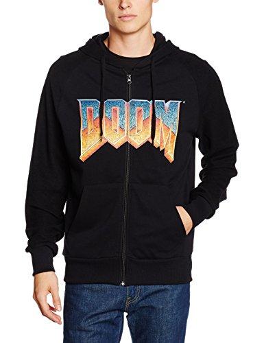 DOOM T-Shirt -XL- Box Art, schwarz schwarzer Hoodie mit Vintage Logo