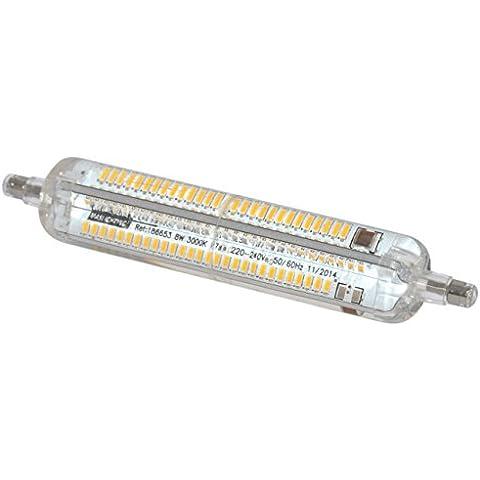 Maslighting 186660 - Lámpara LED lineal, 8 W, R7s, 118 mm, 4000 K, 1000 lm