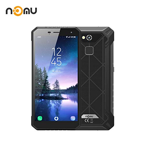 Rugged Smartphone Nomu S50 Pro IP68 Tough Outdoor Phones International Unlocked 5.72 inch FHD Android 8.1 4G LTE Dual SIM 4G RAM 64 ROM 8.0MP+16.0MP Dual Camera for Hiking Skiing X Sport (Black) Memory Card Pocket